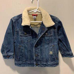 GAP | Toddler Boy Sherpa Collar Denim Jacket 18-24